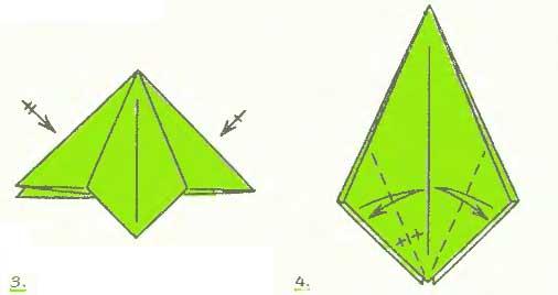 фуксия из бумаги - схемы 3 - 4