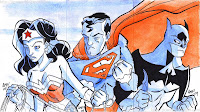 Wonder Woman, Superman, and Batman by Tony Fleecs (2009)