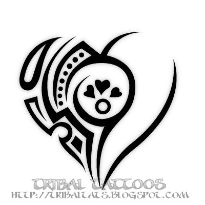 tribal heart tattoos. of Tribal Heart Tattoos