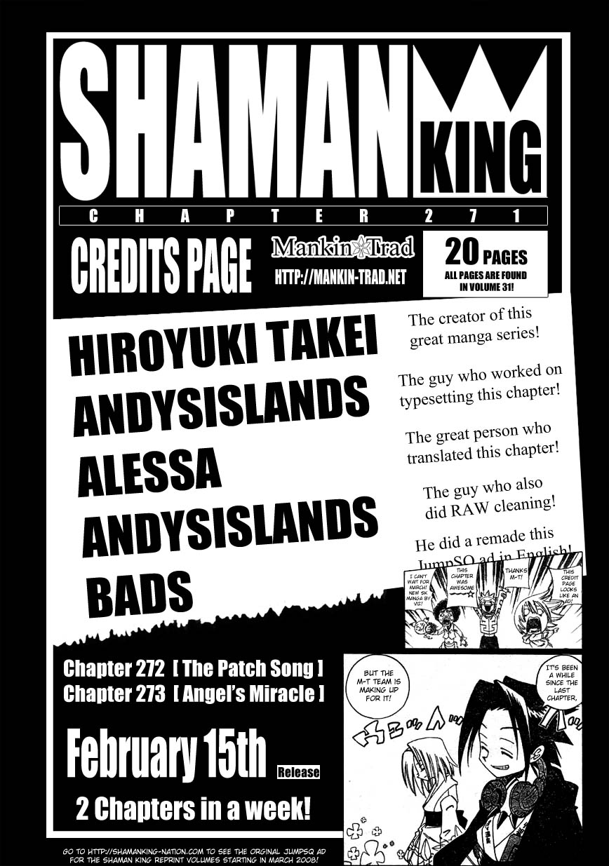 Vua Pháp Thuật-Shaman King chap 271 Trang 19 - Mangak.info