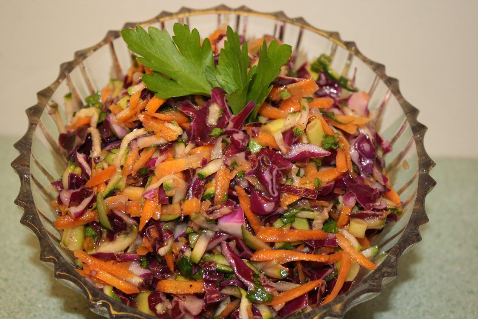 Veggie DelightA Manitoba GardenRed Cabbage, Zucchini and