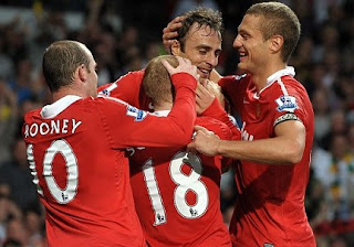 Man UNited  vs newcastle, Manchester united and newcastle, man united, man utd, man utd celebration, rooney, berbatov, vidic, scholes