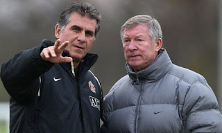queiroz back united staff, ex assistant ferguson