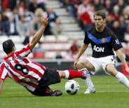 Barclays Premier League result Sunderland vs Manchester united, michael owen manchester united