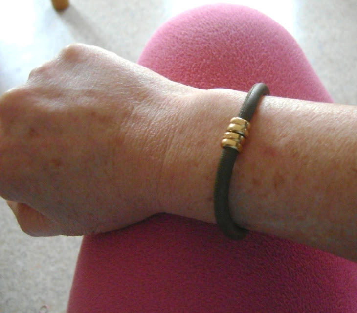 voici 3 photos du bracelet Agatha porté !!