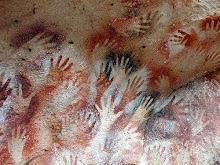 Pintura prehistorica realizada en óleos
