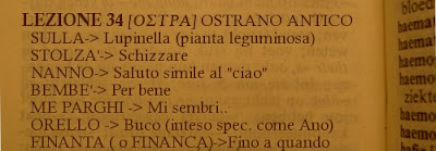 OSTRA:l'ostrano antico, dialetto