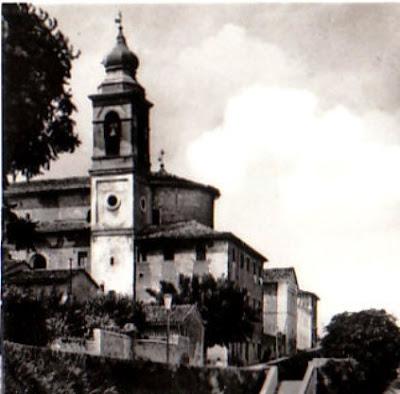 Ostra,collegiata santa croce,campanile,anni '50
