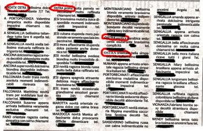 Ostra,annunci,Il Corriere Marchigiano
