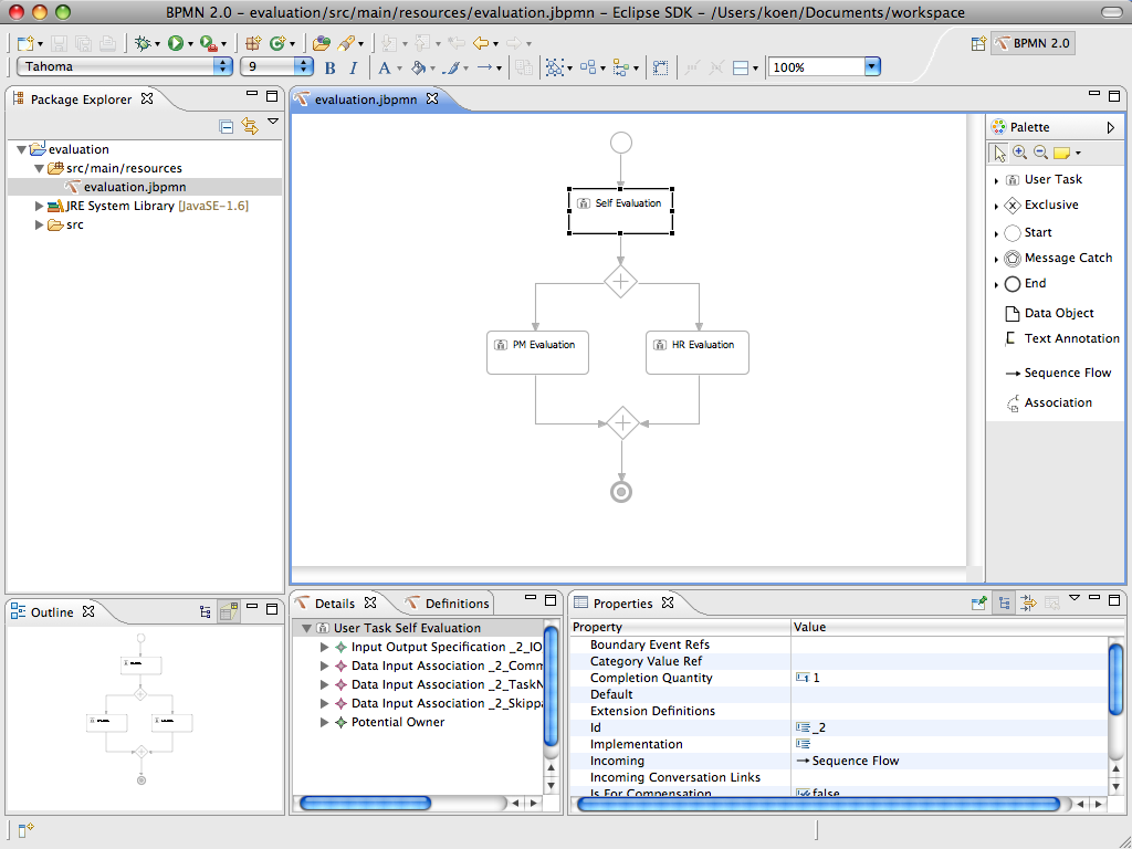 Eclipsing bpmn 20 planet jboss developer the editor comes as a series of eclipse plugins the screenshot below shows a general impression of the result after recreating the evaluation example ccuart Gallery