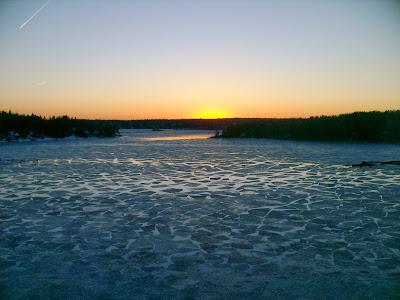 Vue depuis le ferry en Suede