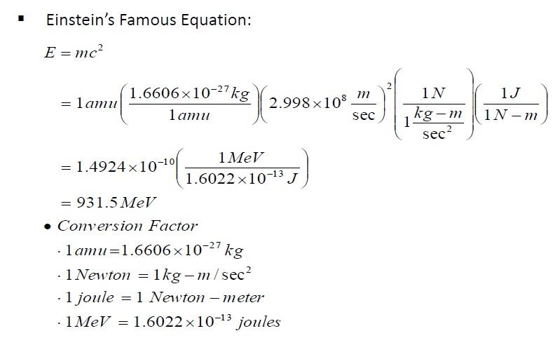 الطاقة وفقا لآينشتاين Energy Einstein