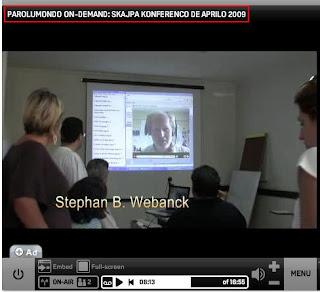 Kolonjano dum skajpa konferenco kun brazilaj komencantoj je 2009-04-18