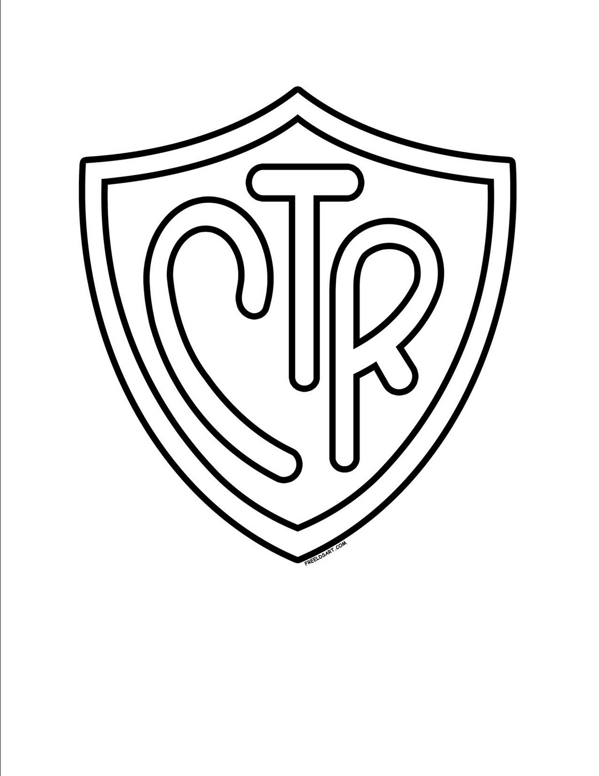 Free Coloring Pages Of Choose The Right Lds Ctr Shield Coloring Page