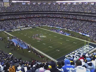 View from my seat in Qualcomm Stadium