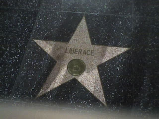 Liberace's star on Hollywood Boulevard