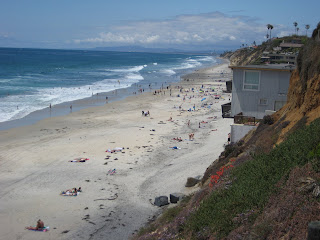 A view of Moonlight beach to the north of D Street