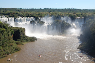 The view of Iguassu Falls from the Brazil side.