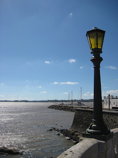 The view of the Rio de la Plata from Colonia.