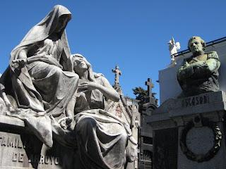 Elaborate tombs in Recoleta Cemetary.