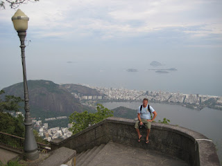 Chad high above Ipanema Beach at the top of the Corcavado.