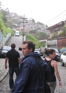 Wandering toward a favela at the top of the Santa Teresa tram line.