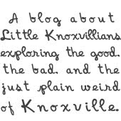 A blog about Little Knoxvillians exploring the good, the bad and the just plain weird of Knoxville