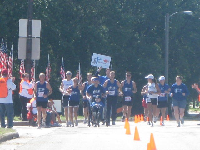 The 2010 LIFE Runners team ran the Sioux Falls Marathon and raised $7,000.
