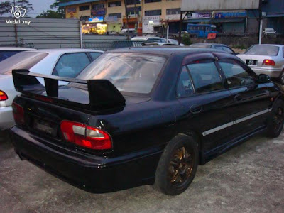Wira Modified http://lancermalaya.blogspot.com/2010/02/proton-wira-modified-to-mitsubishi.html