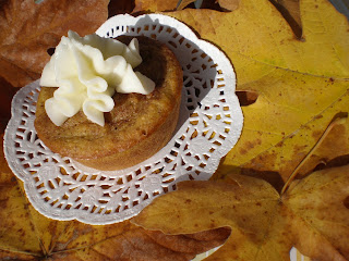 Cake Devine: Moist Pumpkin Spice Muffins with Cream Cheese Frosting