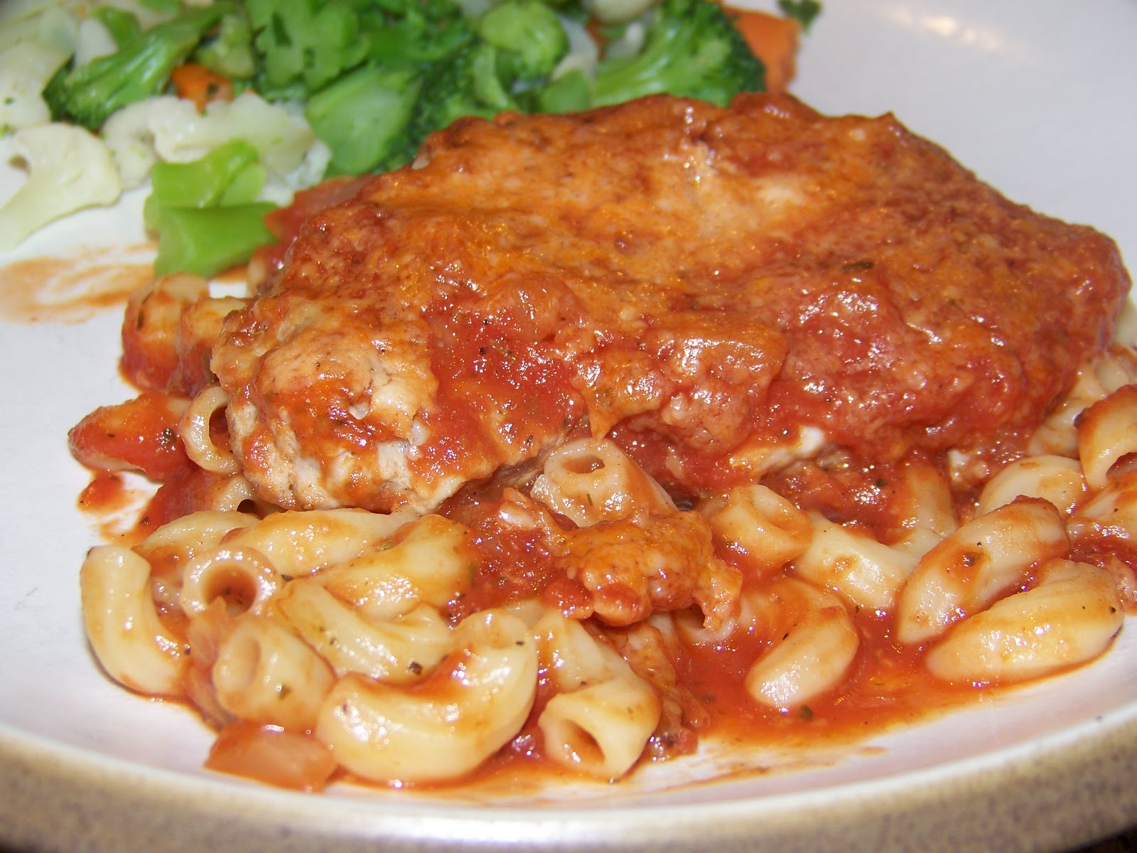 Recipe pork chops and pasta
