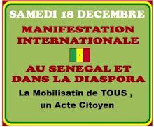 Manifestación contra el régimen de Abdoulaye Wade, presidente de Senegal.