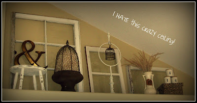 The ruffled nest giveaway and what i hate about my home for Decorating ideas for high ledges