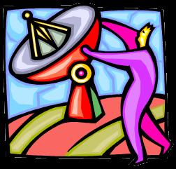 Hombre y antena