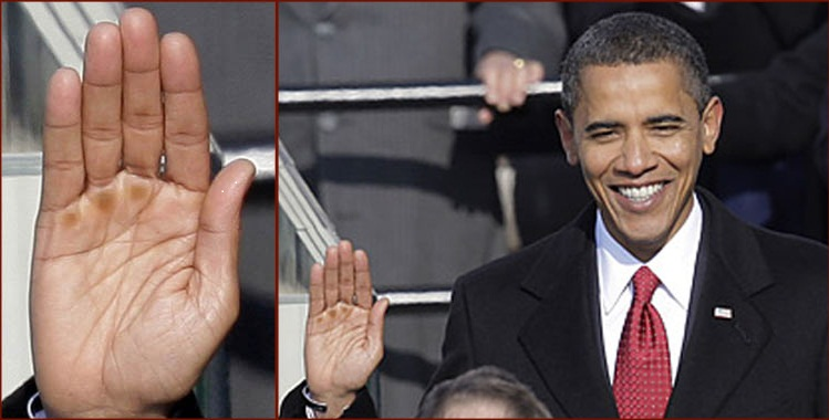 US Presidential hands: Mitt Romney vs. Barack Obama! President-barack-obama-right-hand