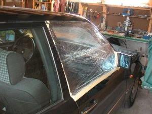 Plastfolie til bilvindu