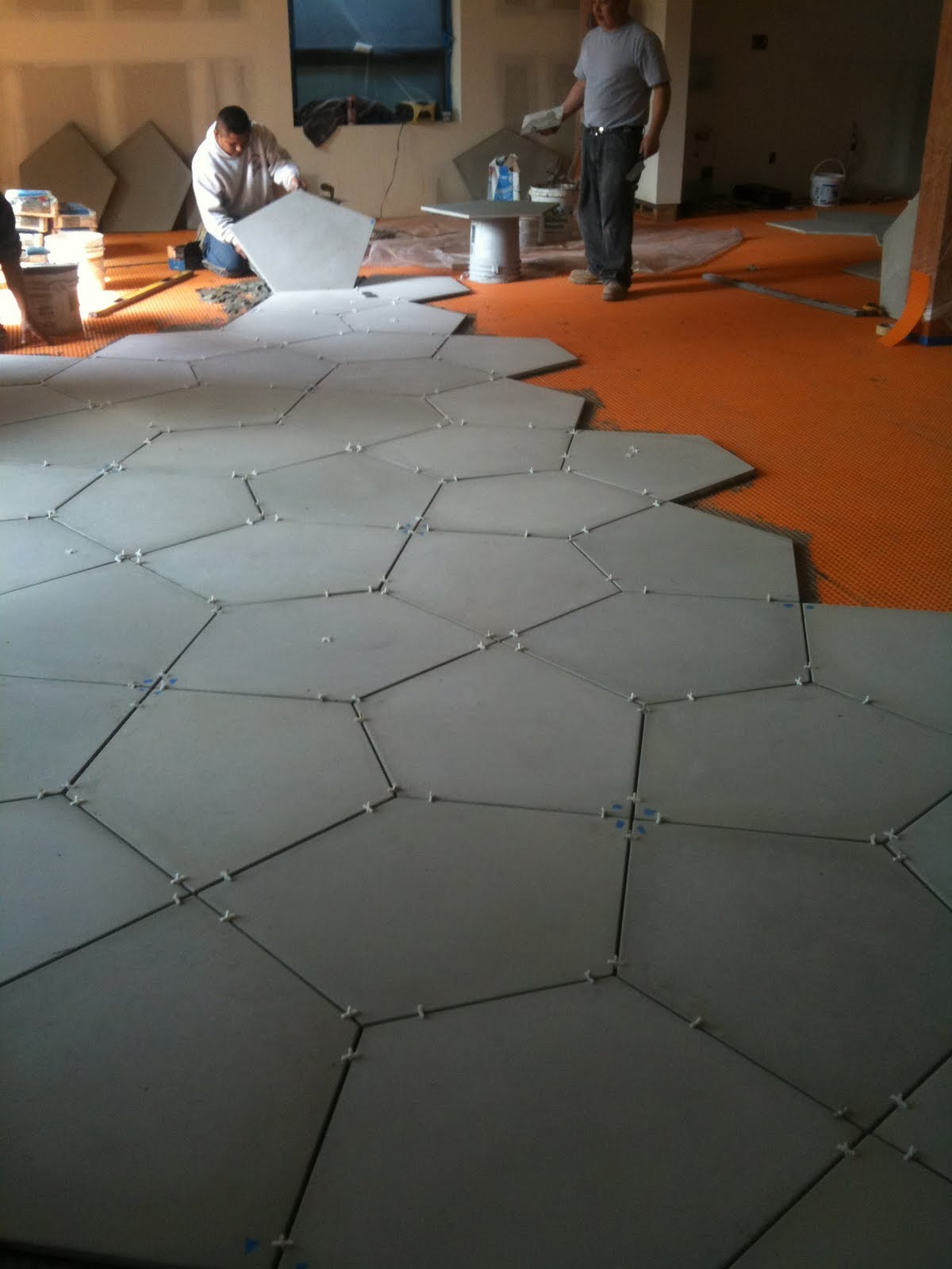 Tiling on a concrete floor