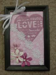 5x7 Framed Valentine