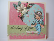 . Hero Arts white flower and sentiment, Shrinkies nice little girls image, .