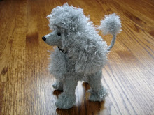 jointed poodle (fluffy rayon fabric)