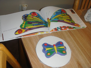 Very Hungry Caterpillar Cake-butterfly closeup