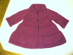 Red Heather Tiered Coat