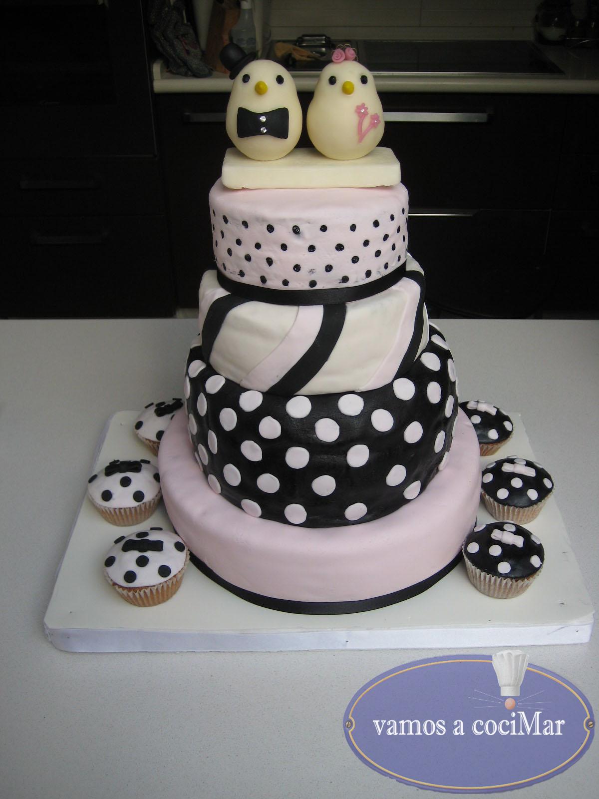 tarta fondant para una boda original