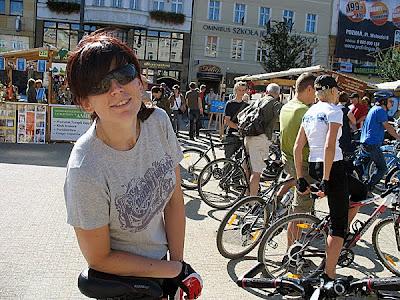 Ja na liczeniu rowerzystów w Poznaniu.