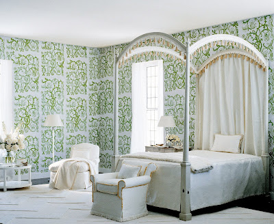Syrie Maugham All White Music Room