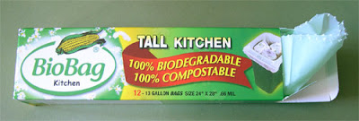 BioBag biodegradable kitchen garbage bags