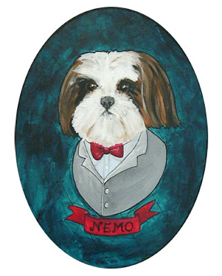 Nemo Dog painting by Lani Mathis