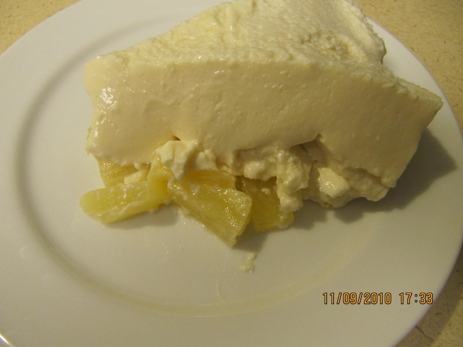 gelatina de pina de leche