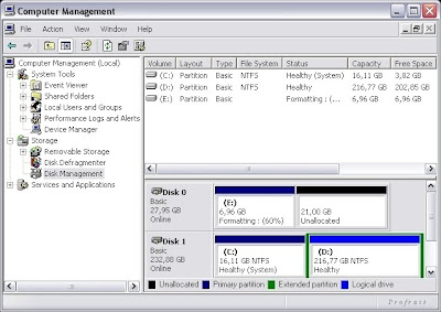 Disk Management в Computer Management