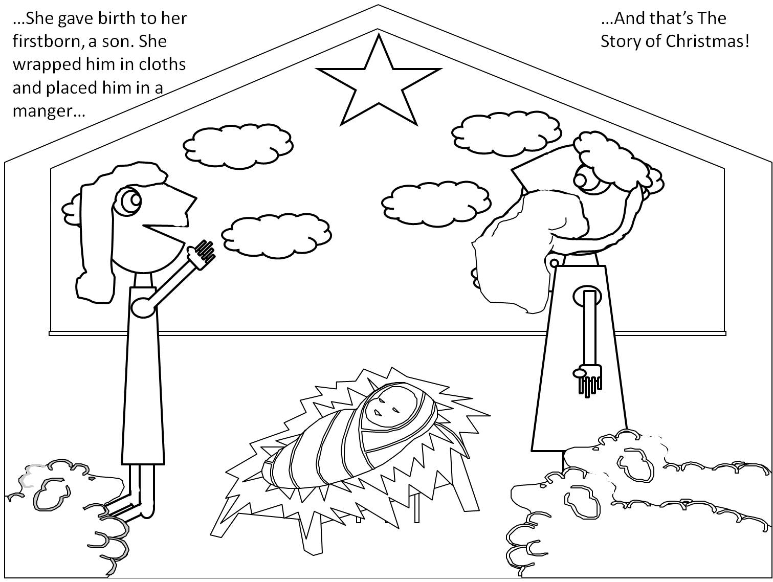 a christmas story coloring pages - photo#22